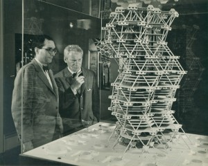 louis_kahn_in_front_of_a_model_of_the_city_tower_project_in_an_exhibition_at_cornell_university_ithaca_new_york_february_1958_c_sue_ann_kahn